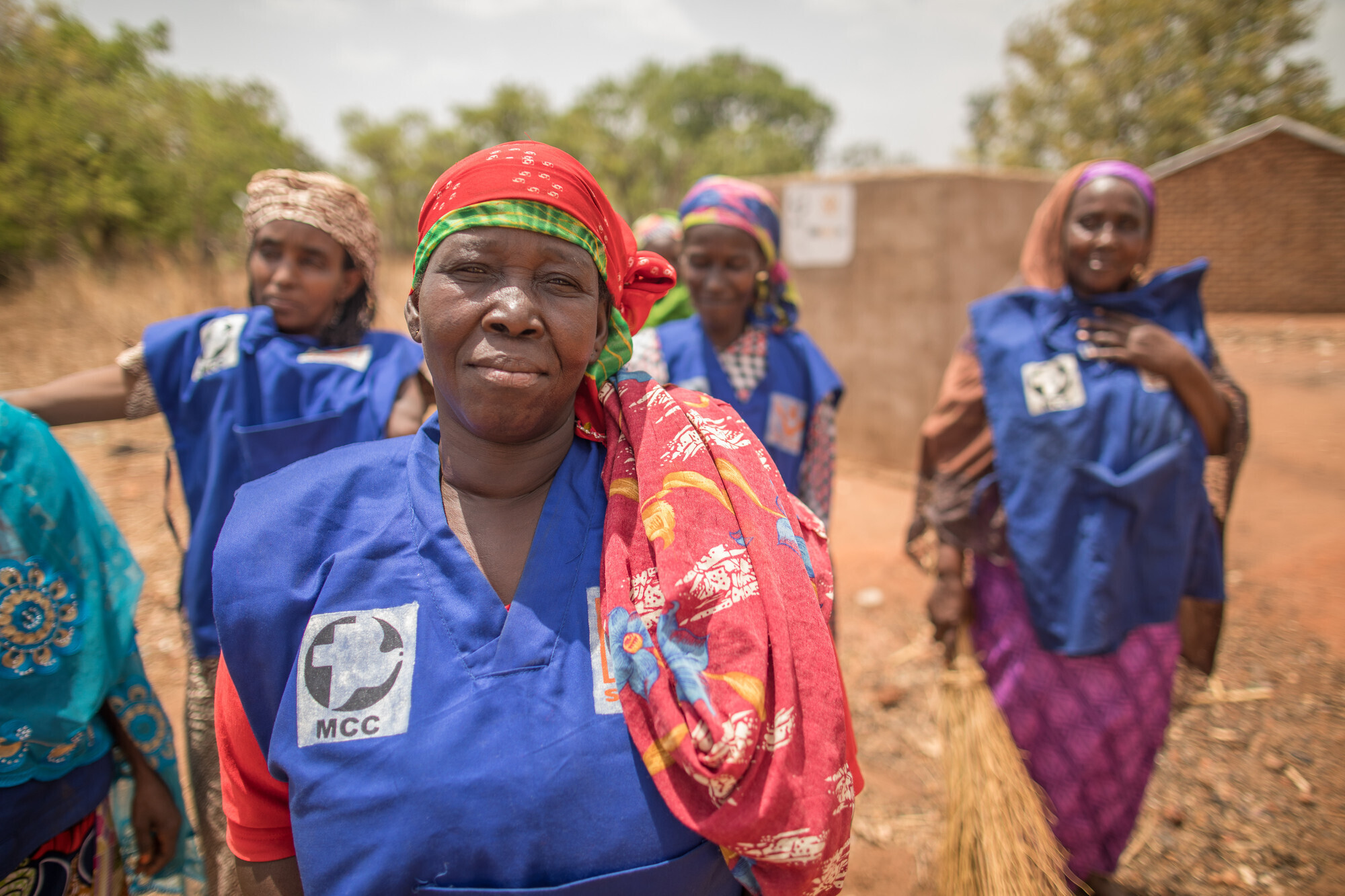 Aïchatou Hamidou was displaced from Central African Republic to a refugee camp in Chad. Through your support, she now leads the WASH (water, sanitation and hygiene) team, a group of women who maintain the latrines and keep the water pumps clean. (MCC photo/Colin Vandenberg)