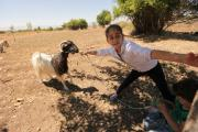 Click to view photos. - By supporting a rider--or by jumping on a bike yourself--you're changing lives in Lebanon. Here are some photos from a recent goat distribution there!