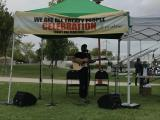 John K. Samson performs at the We Are All Treaty People celebration that MCC Manitoba helped sponsor. 2:00