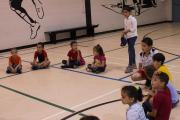 Syrian newcomer children living in Manitoba play duck-duck-goose together at a summer children's program run by privately sponsored refugees supported by MCC. 0:17