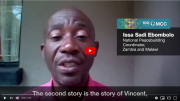 In this excerpt from MCC@100, Issa Sadi Ebombolo, national peacebuilding coordinator for MCC in Zambia and Malawi, shares two stories of MCC's material resources making an impact. 3:53