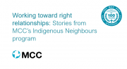 Working toward right relationships: Stories from MCC's Indigenous Neighbours program with Bridget Findlay and Beverly Lightfoot 1:01:32