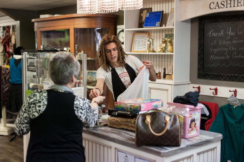 """<span class=""""photo-caption"""">Andy Arthur is co-manager of the Village Green MCC Thrift Shop in Saskatoon, Sask.</span><span class=""""photo-credit"""">MCC photo by Matthew Sawatzky</span>"""