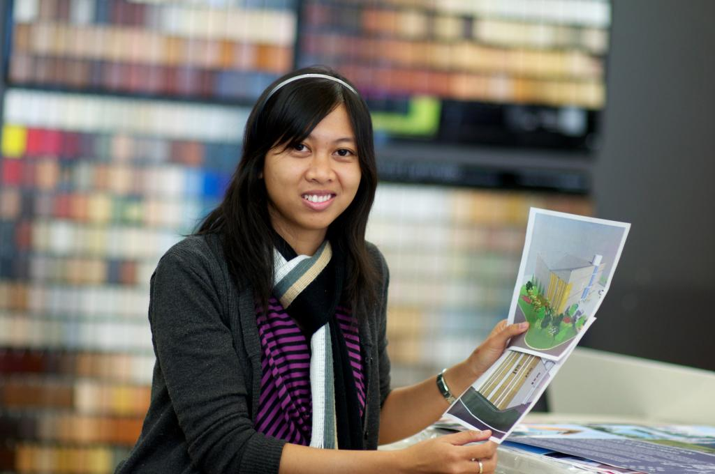 """<span class=""""photo-caption"""">Rany Putri is an architect from Indonesia who participated in MCC's International Volunteer Exchange Program in 2011-2012. She assisted staff at aodbt, an architecture and interior design firm in Saskatoon, Sask.</span><span class=""""photo-credit"""">MCC photo by Chai Bouphaphanh</span>"""