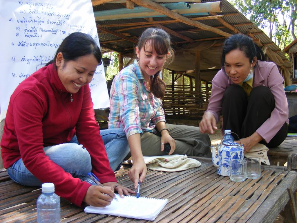 """<span class=""""photo-caption"""">Rebecca and colleagues from ODOValso spent time in nearby villages analysing the situation and discussing possible improvements with local farmers.</span><span class=""""photo-credit"""">MCC Photo/Rebecca Standen</span>"""