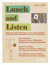 Stories of Indigenous Neighbours: A Lunch and Listen Event