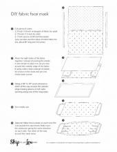 DIY Fabric Face Mask Pattern