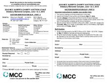 Print this form and fill out to register an auction item for donation to the 2018 MCC Charity Auction and Sale.