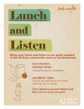 Stories from Jordan: A Lunch & Listen Event poster