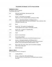 Schedule for seminar