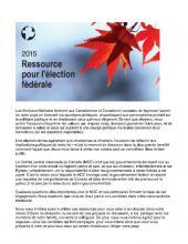 2015 Ressource pour l'élection fédérale