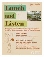 Stories from Bangladesh: A Lunch and Listen Event