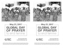 Global day of prayer to end famine, bulletin insert.