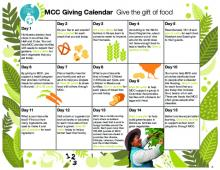 A kid-friendly resource to encourage daily giving to MCC food projects.