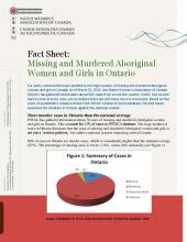 Fact Sheet: Missing and Murdered Aboriginal Women in Ontario