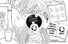 My Coins Count Jug wrapper/Poster - Colorable