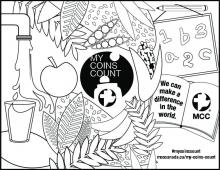 My Coins Count Colorable Poster 8.5x11