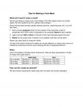 Tips for Making a Face Mask
