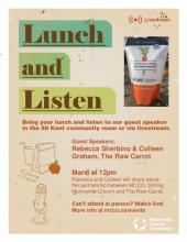 Stories of Partnership: A Lunch & Listen event poster