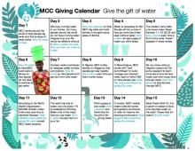 A kid-friendly resource to encourage daily giving to MCC water projects.