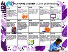 A kid-friendly resource to encourage daily giving to MCC education projects.