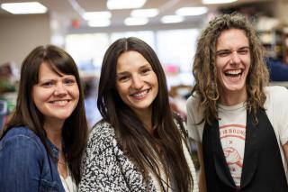 Karen Ens, Sophia Kutsiuruba and Andy Arthur are co-managers of MCC's Village Green Thrift Shop in Saskatoon, Saskatchewan.