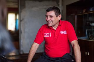 Valeriy Seteykin is a client of New Life, an MCC partner in Nikopol, Ukraine. New Life runs several programs that help improve the lives of prisoners and former prisoners with HIV or HIV and AIDS.