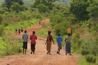 The road in the Opari district, South Sudan.