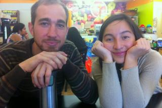Ayda Villalobos and her host Justin Shenk