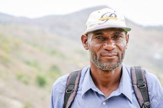 Haitian leader in mountains