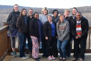 IVEP coordinators from across the US and Canada gather for a network meeting at Shekhinah's retreat centre in Saskatchewan.