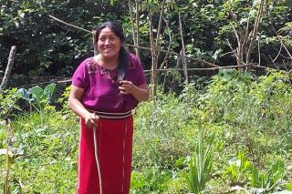 Maria Raymundo, a single mother of two in the Mayan Highlands of Guatemala. Her parents and grandparents taught her the traditions of growing corn and beans, and how to collectively govern communal pasture lands.