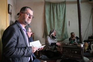 MCC Canada executive director Rick Cober Bauman visits a project in Syria funded through MCC's account at Canadian Foodgrains Bank. (names of beneficiaries withheld for security reasons)
