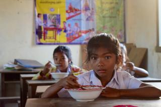 Cambodia school feeding