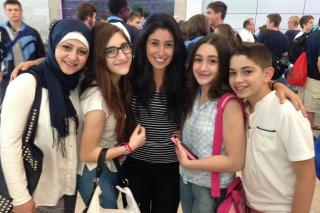Hanan Talabeh's family arrived as refugees from Syria this summer.