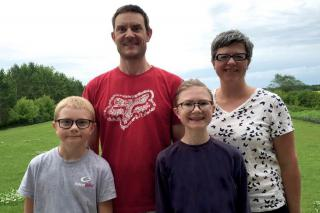 The Thiessen family of Lorette, MB