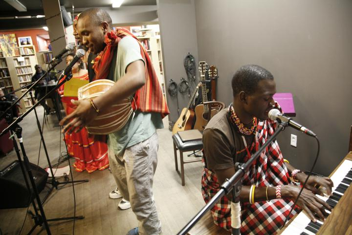 IVEP participants performing at Sam's Place