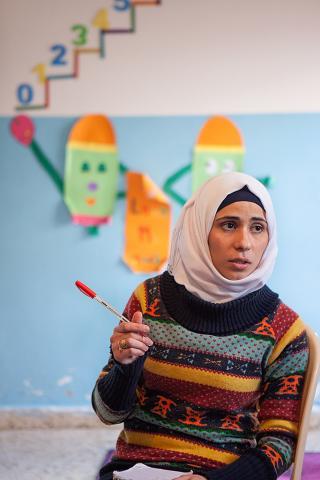 Yasmin Al Soufi in her classroom