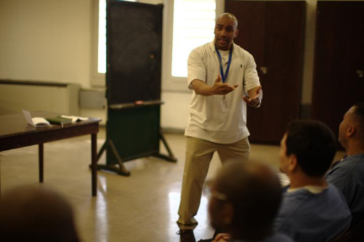 Ron Muse is a peace worker who leads Bible study at the Philadelphia Detention Center; his work is supported by MCC.