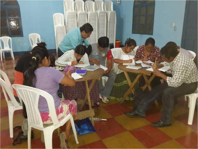 On Saturdays inAltaVerapaz, Guatemala,theK'ekchíMennonite Church provides basic literacy and secondary education to youth and young adults who have not been to school or who dropped out as children. Students receive credit through a national correspondence course. MCChelps to fund teacherand supervisor salaries.