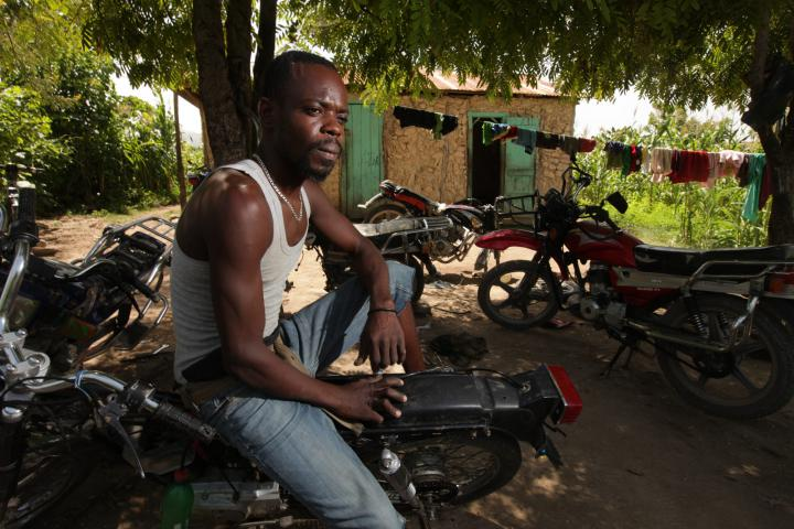 """Thanks to the school's classroom studies and practical training, mechanicDieunoldSterling can complete complex repair jobs he once would have turned down. Better earnings mean hisfamily eats better. He can get credit to pay school fees. And his dreams have grown beyond fixing bikes in this yard. He'd like to own a full-service garage, employ other graduates and start a parts store. """"I've got a shop here,"""" he says, """"but I want to have an enterprise."""""""