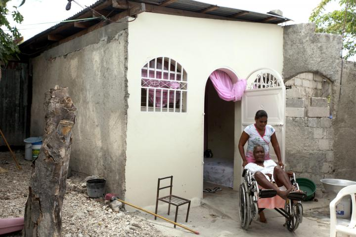 """Marie AntoinetteCréaExuméand daughter Nancy Marc not only had their roof replaced and new plaster put on through this project ofMCC, Church World Service and Haitian partners Christian Center for Integrated Development and ServiceChretiend'Haiti. They also got a wheelchair ramp. Today Marc can move her mother in or out of the house on her own. """"It changes everything,""""Exumésays. """"Now I'm able to go out. When it's really hot inside, I can go outside."""""""