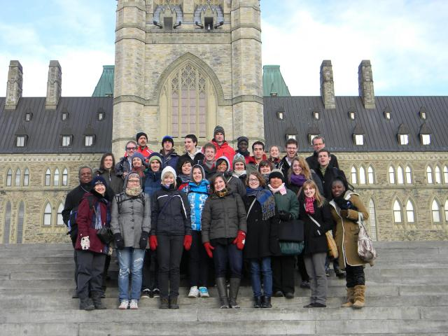 In 2005 the Ottawa Office hosted a three-day seminar for university students from across Canada. The seminar has since become a successful annual event. This photo is from 2011.
