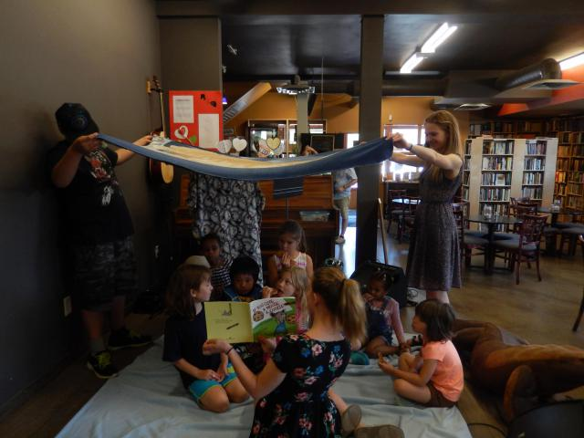 """The first week of the program ended withcookies under a blanket fort while reading """"If you Give a Mouse a Cookie."""""""
