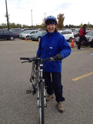 Lily Hiebert Rempel, MCCO's Low German Program Coordinator, is all bundled up and ready to brave the cold winds.