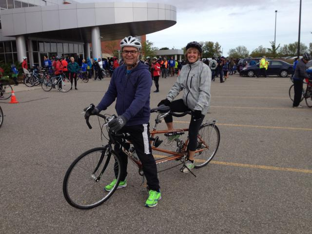 MCC Ontario Executive Director Rick Cober Bauman and his wife Louise are ready to Ride for Refuge.