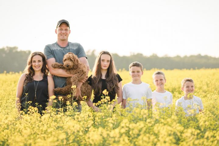 The Dyck family of Artel Farms in Niverville.Artel Farms is contributing soy beans in their fourth year as a Grow Hope farmer.