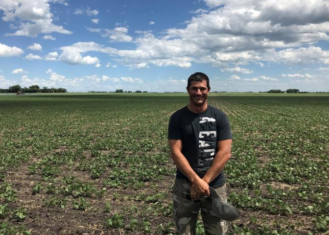 H & M Farms of Altona is offering cornin their second year as a Grow Hope farmer. Kyle Friesen showcases their 2018 Grow Hope soybean field.