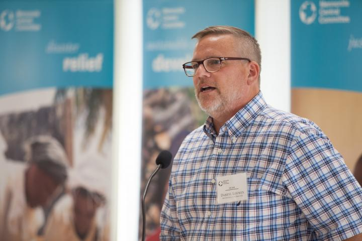 Darryl Loewen, executive director of MCC Manitoba, shares of Grow Hope's impact on people's lives around the world through food relief and development projects in Syria and Lesotho.