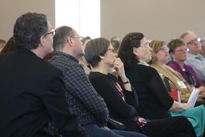 2017 forum participants listen intently to the keynote speaker.